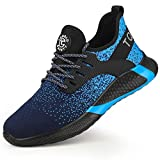 TQGOLD Men's Women's Safety Working Ultralight Shoes Industrial & Construction Anti-Puncture Breathable Steel