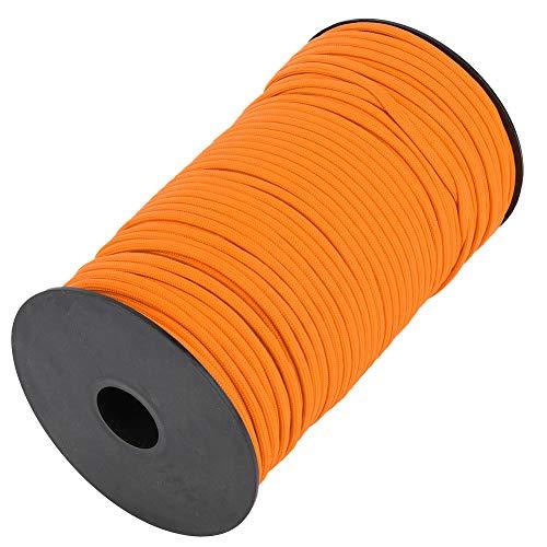 FECAMOS Cuerda de Supervivencia Resistente y Duradera Cuerdas de Supervivencia Cuerda de Escalada con estándar Militar 7 núcleos para Senderismo, Camping, Escalada(Orange)