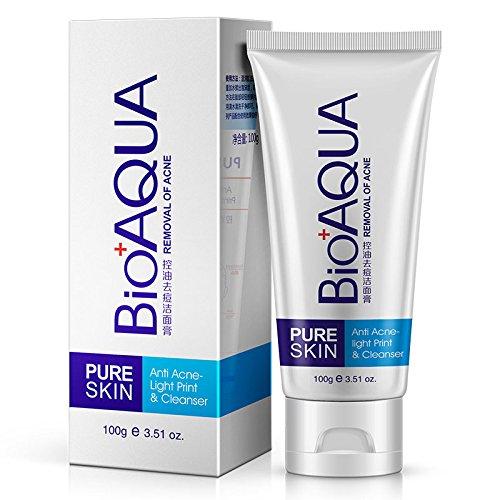 bureze bioaqua limpiador facial acné quitar aceite Control