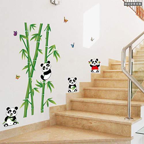 Decoración de casa extraíble Panda pegatinas de pared de bambú Diy decoración del hogar sala de estar dormitoriovinilo carteles calcomanías