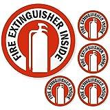 SmartSignFire Extinguisher Inside Label   2.75' x 2.75' Engineer Grade Reflective