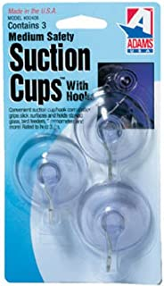 Adams Manufacturing 6500-74-3040 1-3/4-Inch Suction Cup Hook, Medium, 3-Pack by Adams