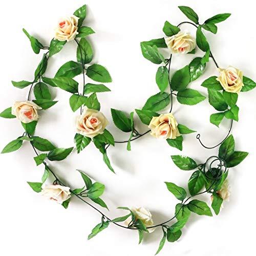 Fliyeong - Guirnalda de Flores Artificiales, diseño de Rosas