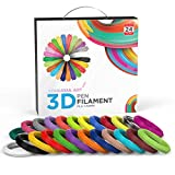 Ataraxia Art 3D Pen PLA 1.75mm Filament V2. Comes in 10 M (787 ft) or 5 M Lengths (393 ft). 24 Beautiful Colors. 4 Translucent and 4 Fluorescent Colors Included. Optional 3D Drawing Mat. (10M)