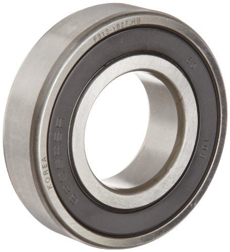 FAG 6206-2RSR-C3 Deep Groove Ball Bearing, Single Row, Double Sealed, Steel Cage, C3 Clearance, Metric, 30mm ID, 62mm OD, 16mm Width, 7500rpm Maximum Rotational Speed, 2520lbf Static Load Capacity, 4380lbf Dynamic Load Capacity