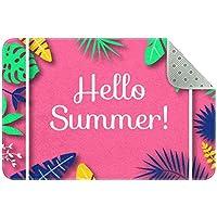 エリアラグ軽量 こんにちは夏 フロアマットソフトカーペットチホームリビングダイニングルームベッドルーム