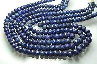 Jewel Beads 50% Off 16 Inch Full Strand,Natural Gem Corundum Dyed Blue Sapphire Faceted Rondelles,6-9mm Code-AUR-65081