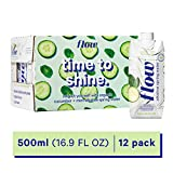Flow Alkaline Spring Water, Organic Cucumber + Mint, 100% Natural...