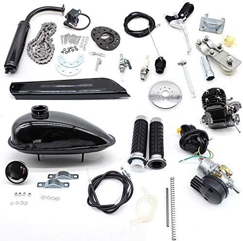 50cc Fahrradmotor Kits 2-Takt-Fahrradbenzinmotor Pedal Cycle Benzinmotor Kit 30km / h motorisierte Fahrräder für 26