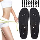 EEUK Magnetic Acupressure Reflexology Insoles, Unisex Magnetic Massage Insoles Foot Acupressure Shoe Pads Breathable Deodorant Comfort Therapy Slimming Insoles for Weight Loss