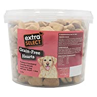Extra Select Baked Grain Free Hearts Turkey & Cranberry treats for dogs 3 Litre
