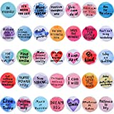 35 Pieces Inspirational Quote Refrigerator Magnets Motivational Fridge Magnets Watercolor Round Encouragement Refrigerator Magnets for Classroom Whiteboard Locker Fridge Supplies