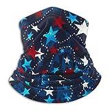 JONINOT Estampados de Bandana Viajar Hecho en los EE. UU. Estrellas Rojo Blanco Azul Pañuelo para el Sol UV Polvo Viento Cuello Polaina Mitad RFace Bufanda Polvo Bandana Tela