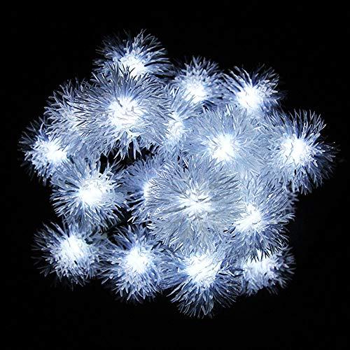 ZTHHS Luces Bola de Nieve Solares, 30 Led FáCil de Instalar Luces de Navidad Guirnaldas Copo de Nieve Impermeable, para Jardines Al Aire Libre Decoraciones de Navidad para Boda (Blanco)