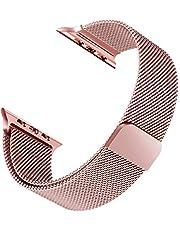 Microsonic Apple Watch SE 40mm Milanese Loop Kordon Rose Gold