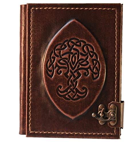 Hochwertiges Notizbuch | Keltischer Knotenbaum | Tagebuch | blanko Seiten | Leder |...