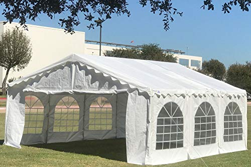 Delta Canopies Budget PVC Party Tent Canopy Shelter - 20'x16' - White