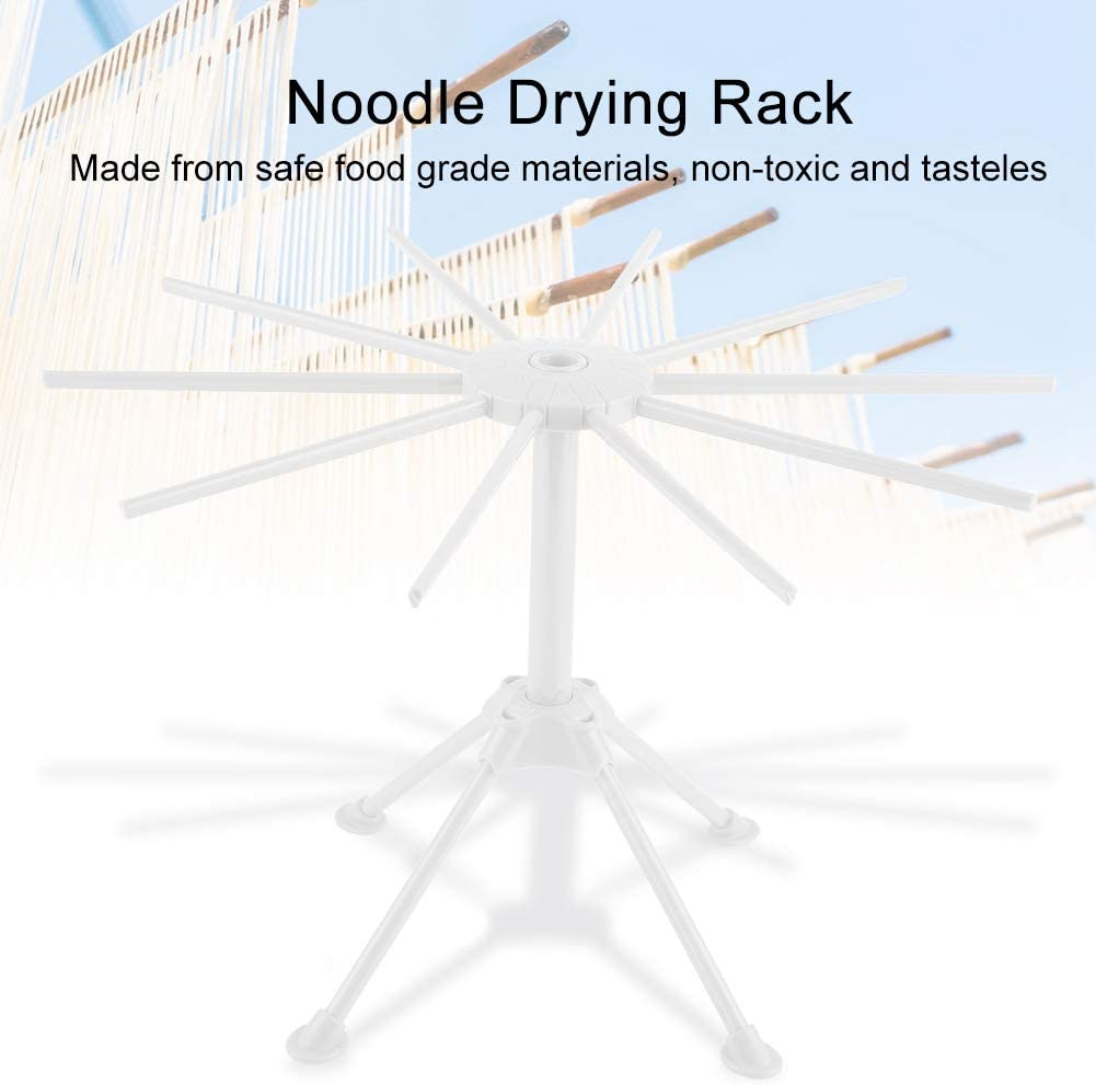 Spaghetti Noodle Stand Dryer Holder with 10 Bar Handles Fresh Pasta Maker Compact Easy to Storage and Quick Installation Foldable Pasta Drying Rack