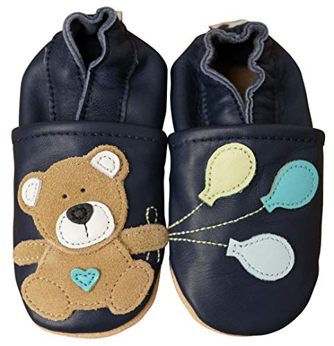 Krabbelschuhe Teddy grau