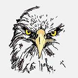 TLZDGX Sticker de Carro Etiqueta engomada del Coche Creativo Águila Ojo Agudo de observación Accesorios Reflectantes CLORURO DE POLIVINILO Decal14cm * 12cm