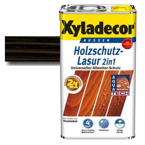 Xyladecor® Holzschutz-Lasur 2 in 1 Ebenholz 0,75 l - Keine Grundierung mehr notwendig - Dünnschicht Lasur