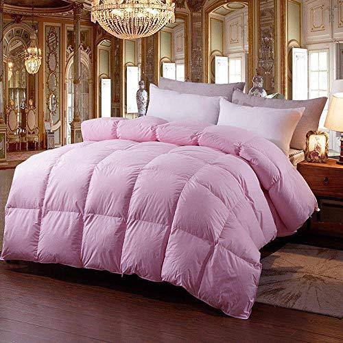 N / A Duvet Inserts,95% white goose down winter quilt comforter blanket duvet-Pink_150x200cm weighs 4 kg