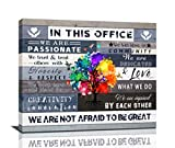 Inspirational Wall Art For Office Motivational Canvas Decor In This Office We Are Poster Quotes Office Wall Decor Rustic Canvas Print Framed For Office Positive Quotes Gifts, 24x20 Inch