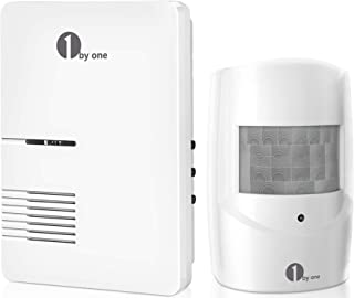 Driveway Alarm, 1byone Motion Sensor 1000ft Operating Range, 36 Melodies, Home Security Alert System with 1 Plug-in Receiv...