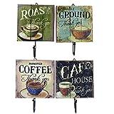 Generic 3: Nuevo Retro de madera decorativo Zakka hierro arte rústico perchero gamuza de taza de café para pared envejecido perchero para puerta Home Vintage organizador