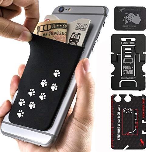 The Gecko Adhesive Card Wallet for Cell Phones, Ultra Slim & Custom Designed (Hung - Weg)
