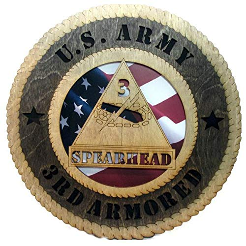Orange Kat 3rd Armored Division Plaque with American Flag