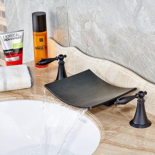 TSGPS GmbH 100014 - Rubinetto miscelatore per lavabo in stile retrò, con placcatura elettrolitica, di ottima qualità