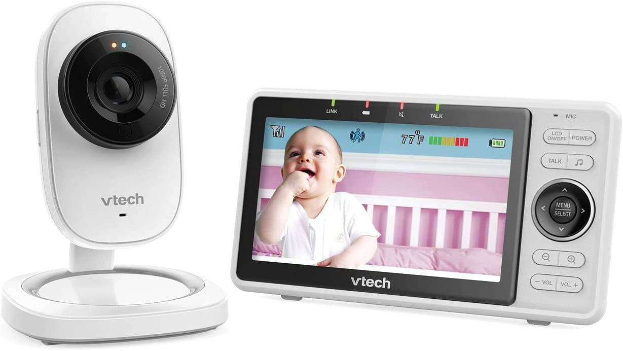 """VTech RM5752 Wi-Fi Remote Access Video Baby Monitor with 5"""" 1080p HD Camera, Automatic Night Vision (Renewed)"""