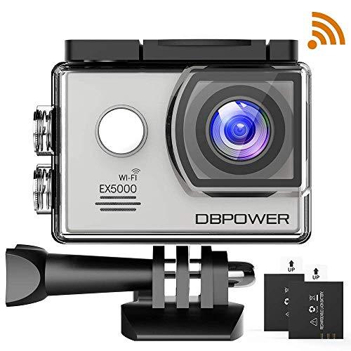 db DBPOWER DBPOWER EX5000 Originale Versione WiFi 14MP FHD Sport Action Camera Impermeabile con 2 batterie e Kit Accessory Inclusi