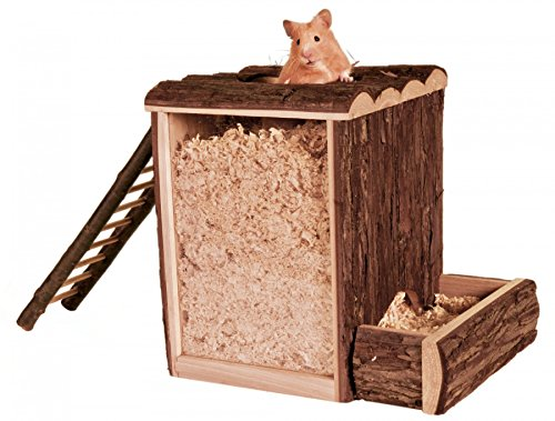 Trixie 62002 Natural Living speel- en boedddeltoren, 25 × 24 × 20 cm