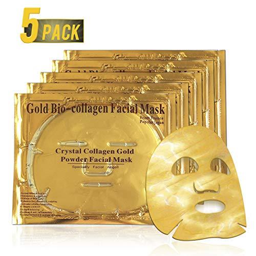 Maschere per il viso al collagene in gel, Maschera viso anti invecchiamento, Sbiancamento, gonfiore, anti rughe, idratazione, ringiovanimento dei tessuti profondi e idratazione della pelle