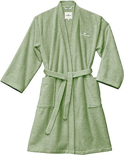 TOM TAILOR 0100300 Bademantel Kimono Frottier Größe L, eucalyptus
