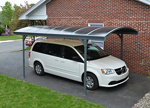 Palram Vitoria 5000 Carport Grey - Robust Structure for Year-Round Use