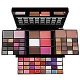 JasCherry Paleta de Sombras de Ojos 74 Colores de Estuche de Maquillaje Cosmético - Incluye Corrector Camuflaje y Bronzer Polvos Compactos y Rubor y Brillo Labios #3