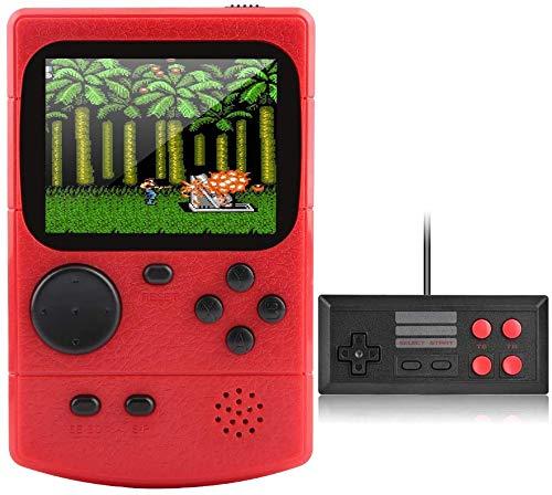 Innoo Tech Consoles De Jeux Portable Retro,Lecteur de Jeu avec 500 Jeux FC Classiques,Prise en Charge de La Sortie TV,Jeu à Deux Joueurs,Batterie Rechargeable 800mAh,Cadeau pour Enfants et Adultes