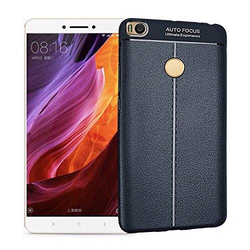 Funda® Firmeza y Flexibilidad Smartphone Funda Carcasa Case Cover Caso para Xiaomi Mi MAX 2(Azul Oscuro)