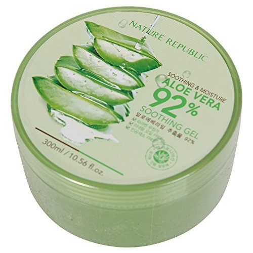 Nature Republic Aloe Vera 92% Soothing Gele Beruhigend Hautpflege Gesicht Tagespflege Feuchtigkeitscremes 300ml