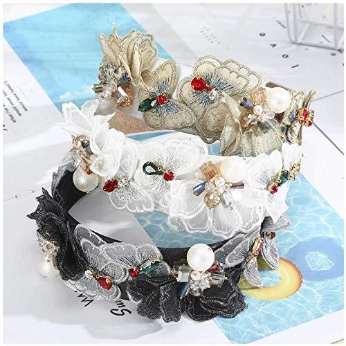 YXFYXF 3 stücke Mode haarbänder Simulation Perle Stirnband Frauen Haarschmuck Schmetterling Blume haarhaken gleiche Ordnung barretten