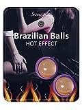 Secret Play S355, Bolas Brasileñas con Efecto de Calor, Pack de 2