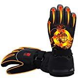 IEights Electric Heated Gloves Powered by Rechargeable Battery for Men and Women Waterproof&Windproof Thermal Hand Warmer Gloves Touchscreen Heating Gloves for Motocycle Hunting Skiing Hiking