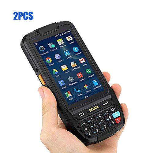 ZUKN De Poche à écran Tactile LCD Collector POS Terminal 1D 2D QR Code à Barres Laser Rapide Prise en Charge Lecteur Bluetooth GPS WiFi 4G et RFIDR Lecture + Caméra Android 7.0 Scanner, Deux Pièces