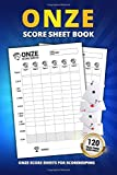 Onze Score Sheet Book: 120 Large Score Sheets For Scorekeeping   Elegant Onze Game Score Keeping Book (Onze Score Pads)