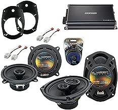 Compatible with Dodge Ram Truck 1500 2002-2008 Factory Speaker Upgrade Speakers & CXA300.4 Amp (Renewed)
