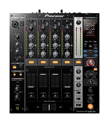 Pioneer DJM750-K DJ-Mixer, 4 Kanäle, Schwarz