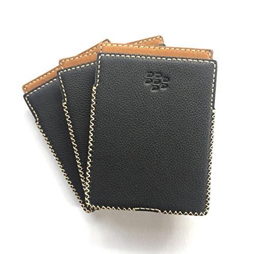 Handmade Leather Housing Case for BlackBerry Passport Q30 (Dotted Black)